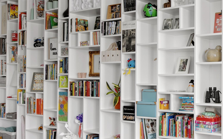 Woonkamer Met Bibliotheek : Etalagekast of bibliotheek in woonkamer vens waasmunster